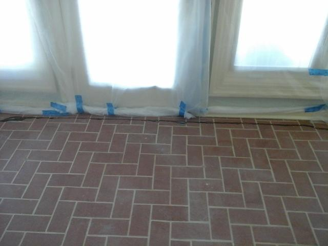 Enclosed Porch Crack Lifted and Leveled by PolyLEVEL