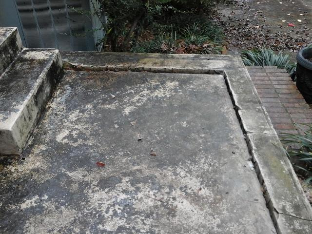 Sunken Patio Lifted with PolyLevel in Lane, SC
