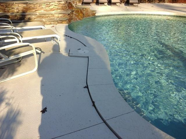 A Pool Deck is Corrected using PolyLEVEL in Evans, GA