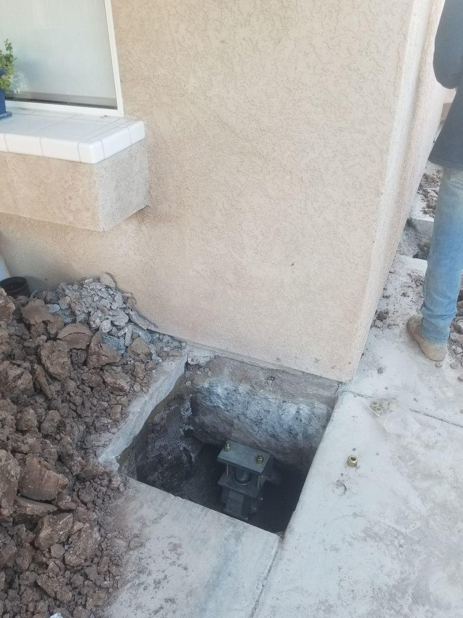 Foundation Piers Stabilize a Home in Imperial - After Photo