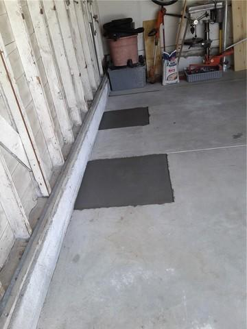 Garage Piering Locations Before & After Torrance, Ca.