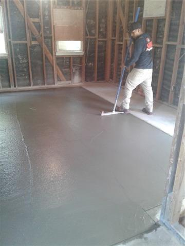 New Floating Concrete Slab in Rancho Cucamonga, CA
