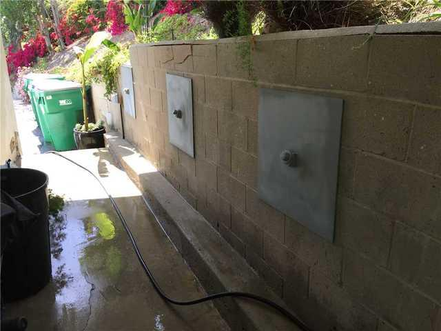 Stabilizing a Block wall in Laguna Beach, Ca