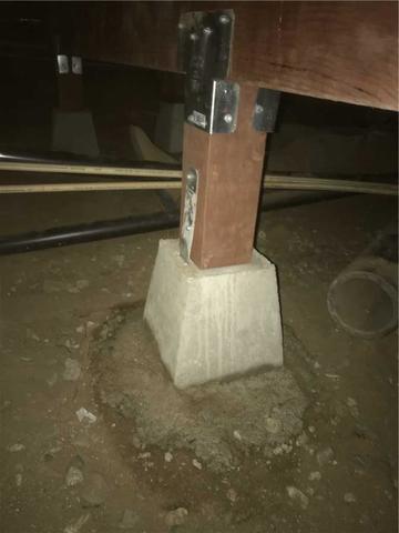 New Floor Support Posts in Riverside