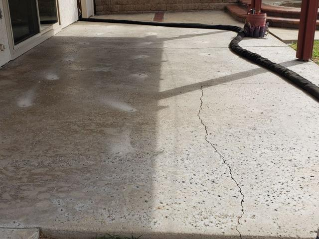 PolyLevel® Used To Lift Back Patio And Finished With NexusPro® In Oceanside, CA - Before Photo