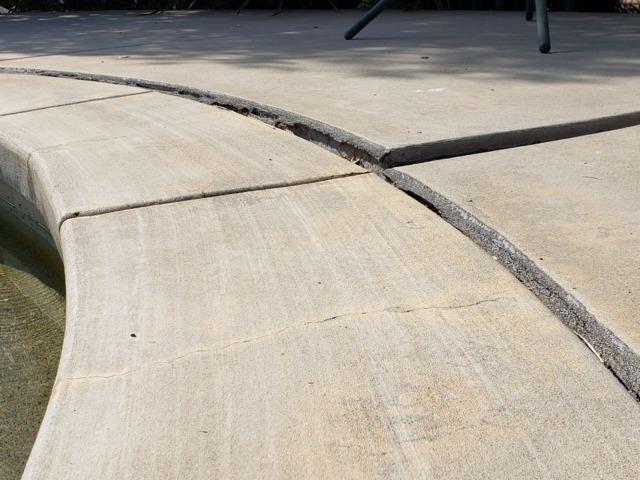 Pool Deck Concrete Repair in Fallbrook, CA - Before Photo