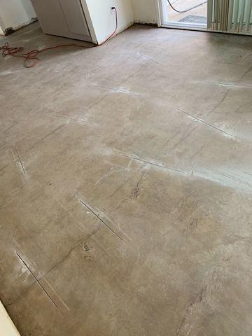 Crack Stitching Slab Using Epoxy, And Carbon Fiber In Colton, CA