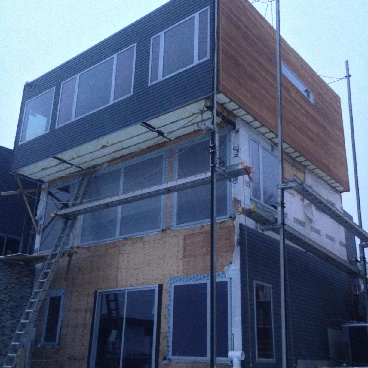 Insulating Cantilevers On A New Home - Orangeburg, NY - After Photo