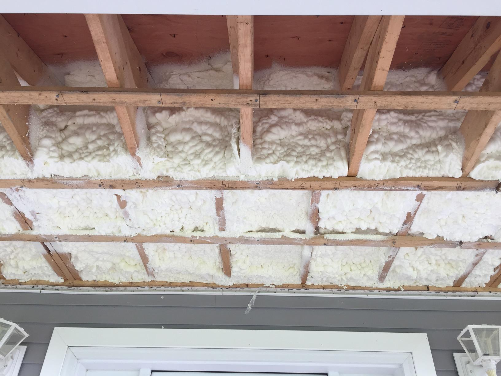 Insulating Cantilevers On A New Home - Orangeburg, NY - Before Photo