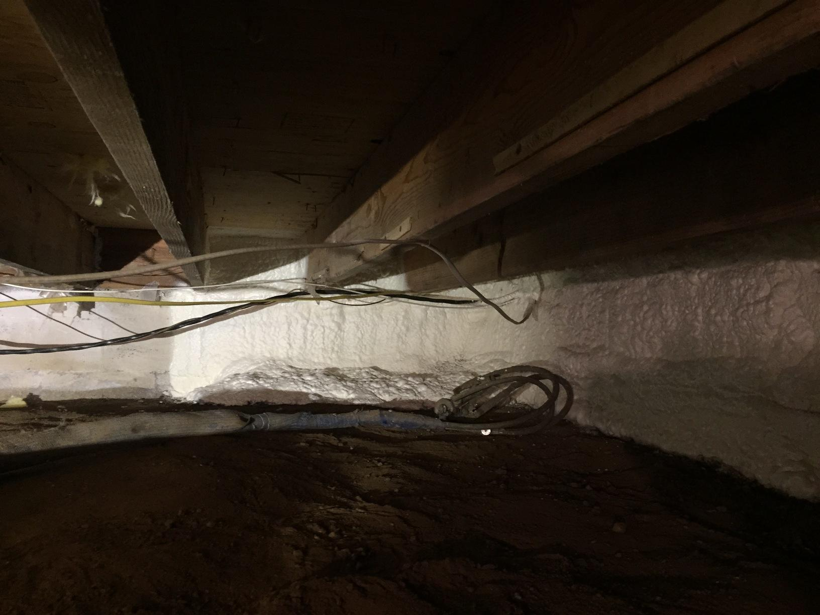 Crawlspace Wall Insualtion - After Photo