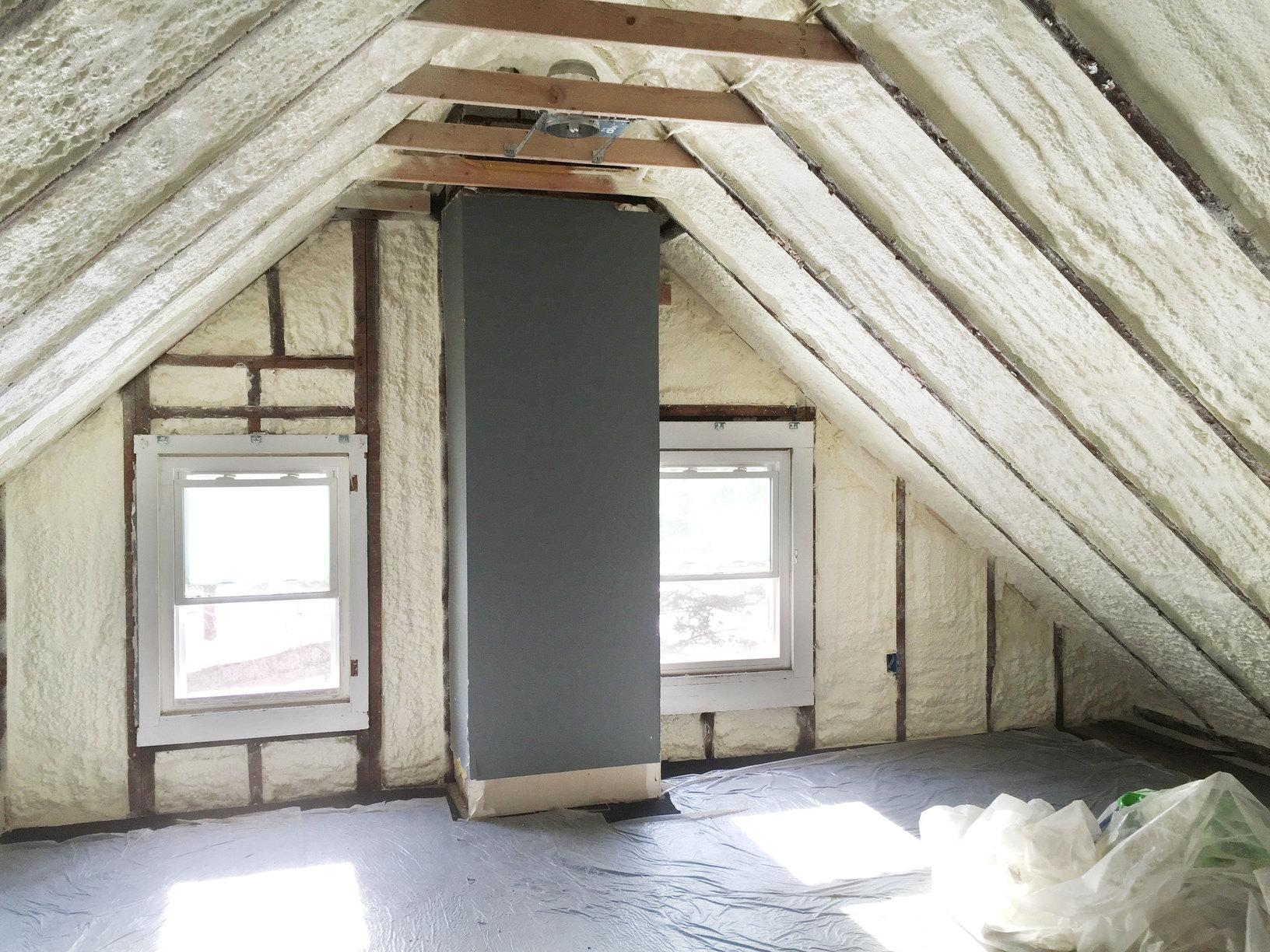 Third Story Attic Renovation - Open Cell Spray Foam - After Photo