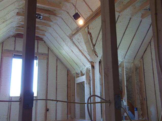 Dr. Energy Saver open cell spray foam in the Shawangunks - After Photo