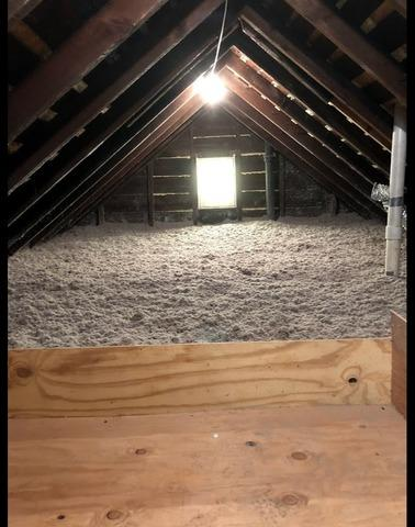 Installing Blow-in Cellulose In An Attic - Kingston, NY