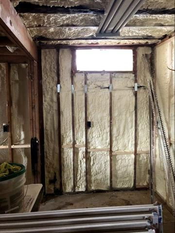 Installing Spray Foam Insulation at Fallkill Properties - Poughkeepsie, NY