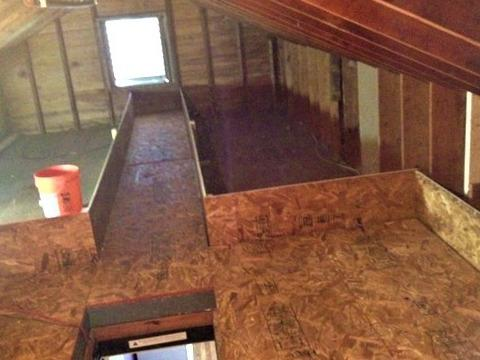 Insulating An Attic With Cellulose - 	Blauvelt, NY