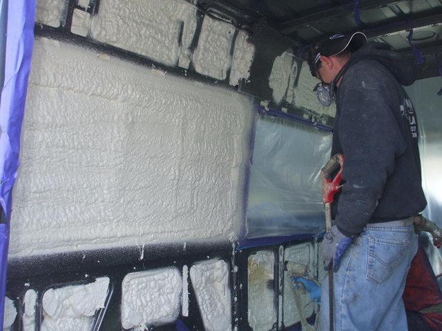 Spray Foam Installation in a Vehicle