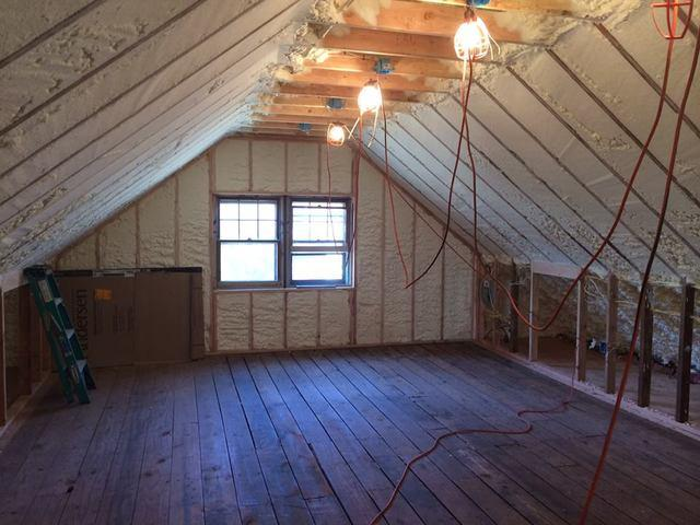 Spray Foam Application in a Nyack, NY Attic
