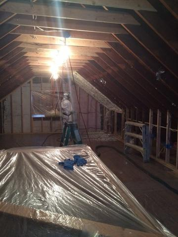 Spray Foam Application in a Nyack, NY Attic - Before Photo