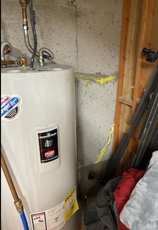 Basement Crack Repair Billings, MT - Before Photo