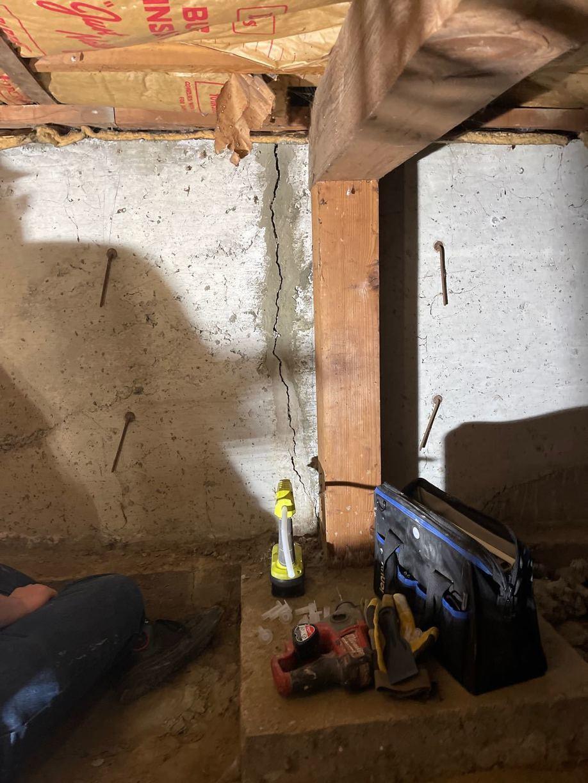 Leaky Crack Repair in Billings, MT - Before Photo