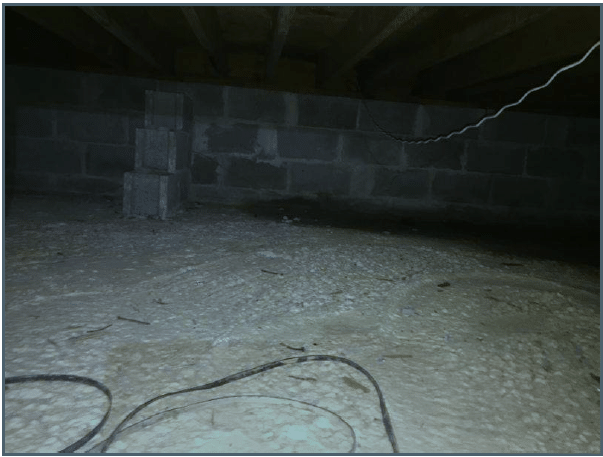 Insulating Crawlspace Walls in Woodstock, NY - Before Photo