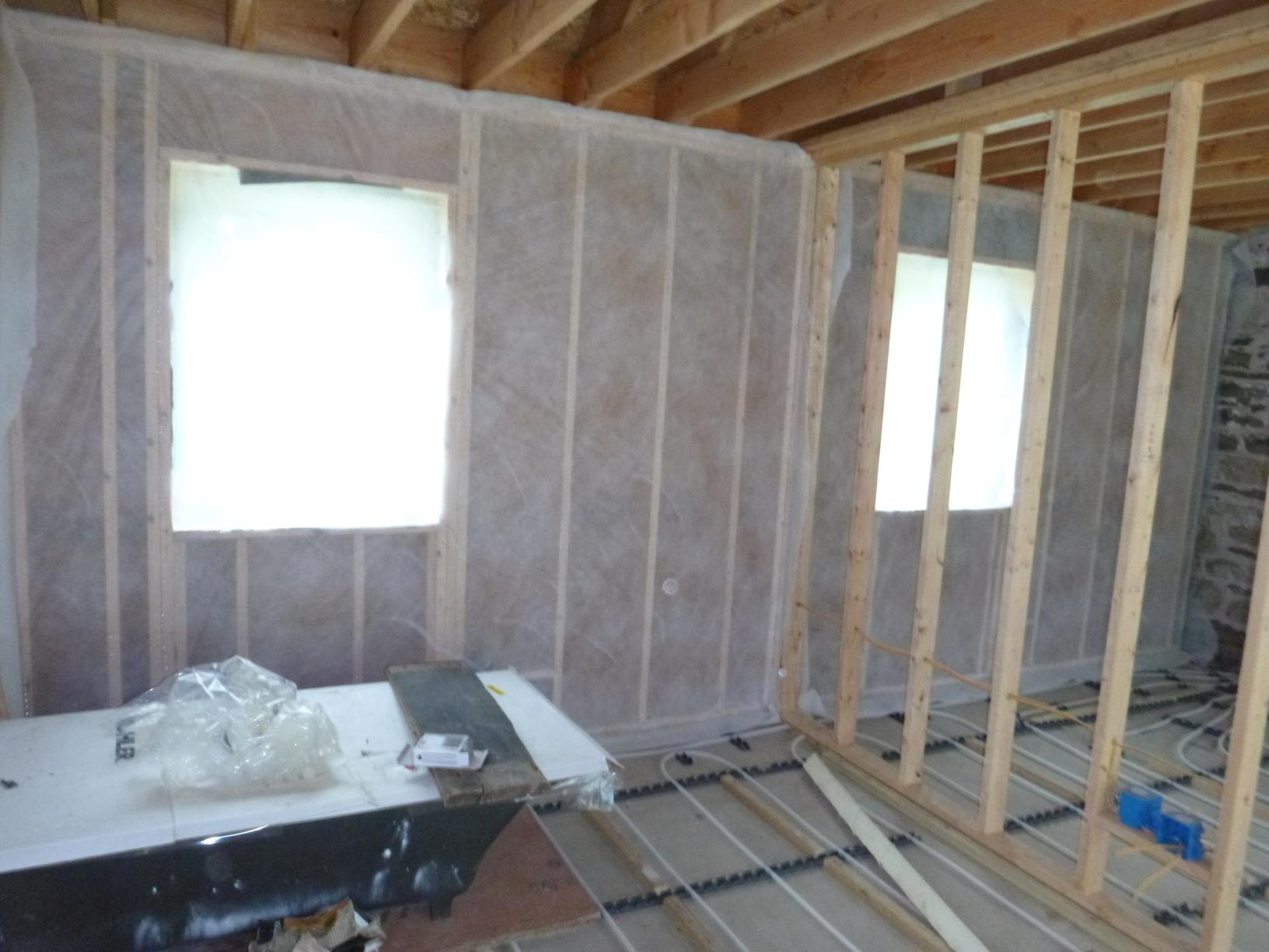 Dense Pack Cellulose for New Construction in Accord, NY - Before Photo