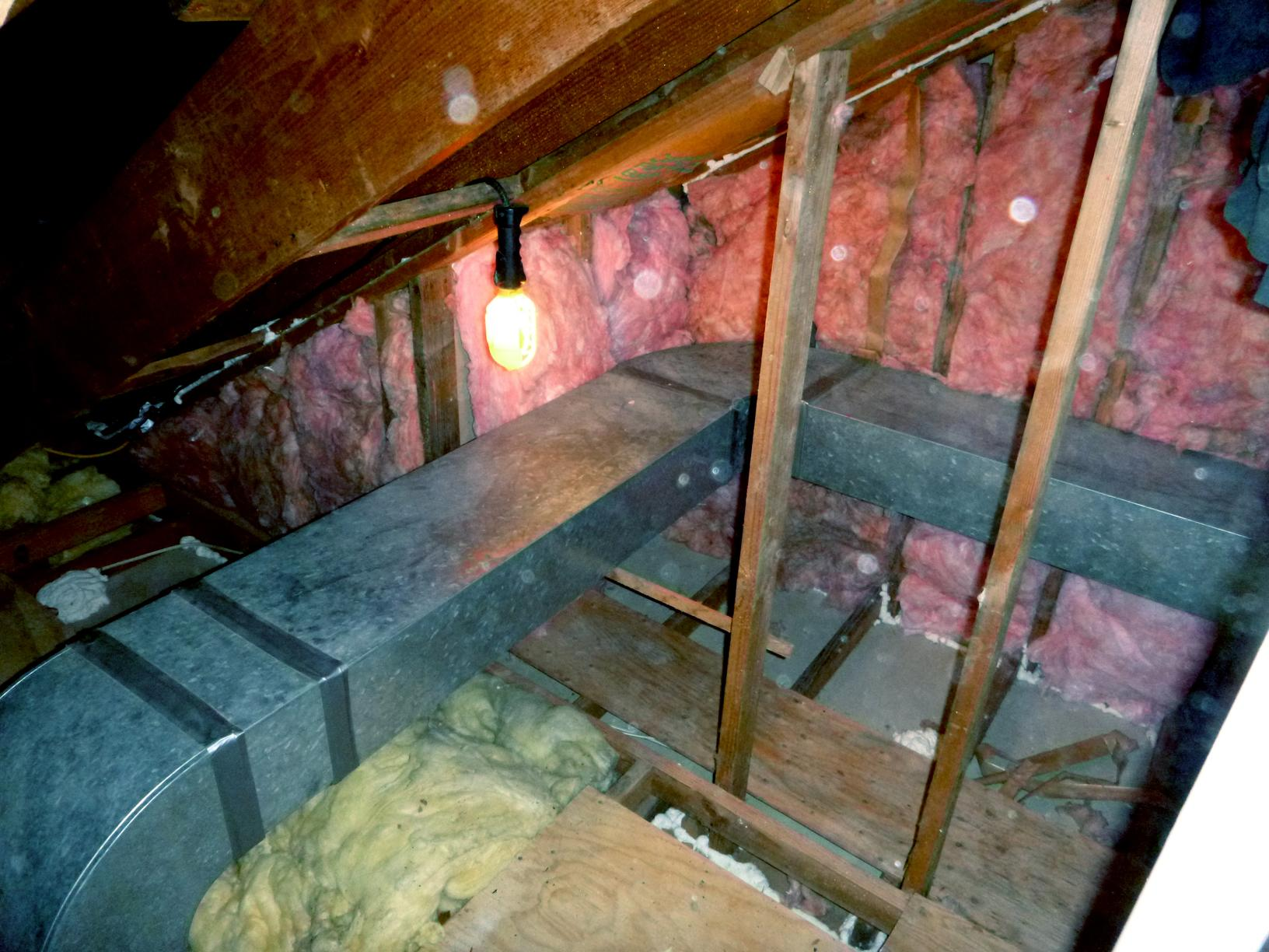 Attic Insulation and Storage Space in Shokan, NY - Before Photo
