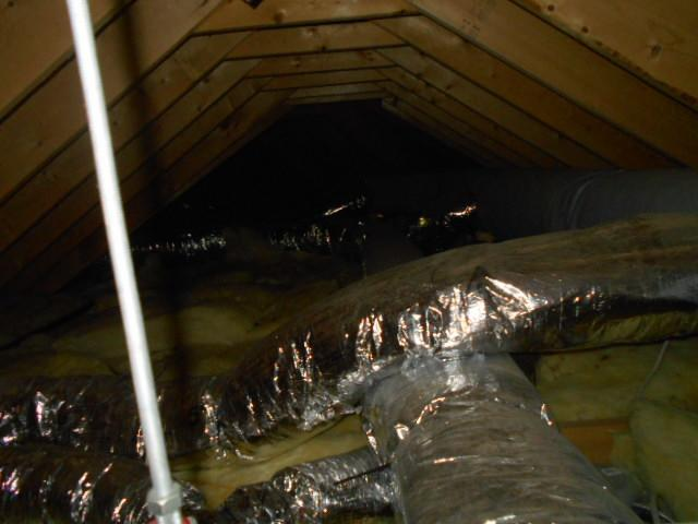 Open Attic Blown Cellulose - Before Photo