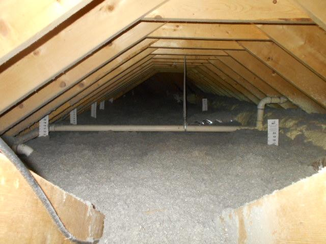 Open Attic Blown Cellulose - After Photo