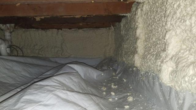 Crawlspace Vapor Barrier and Spray Foam- Kingston, NY - After Photo