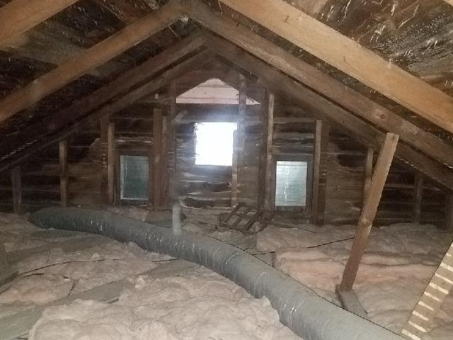 Attic Insulation with Cellulose- West Sand Lake, NY - Before Photo
