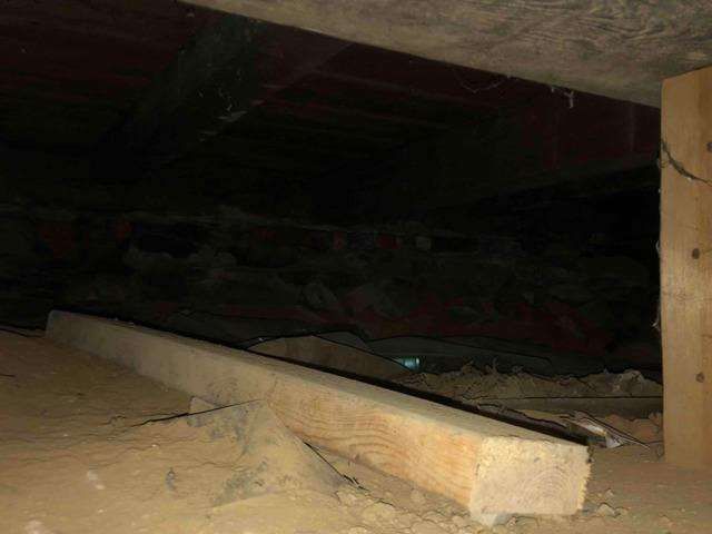 Basement Insulation in Guilderlnad, NY - Before Photo