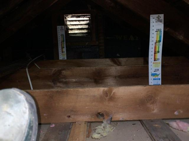 Attic Insulation in Castleton on Hudson - Before Photo