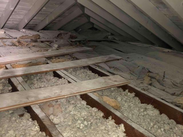 Attic Insulation In Rensselaer, NY - Before Photo