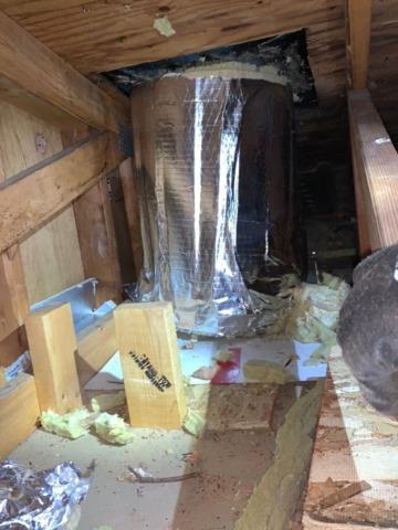 Attic Insulation and Chimney Wrap in Jewett, NY