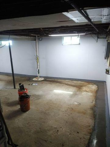 Basement makeover in Syracuse