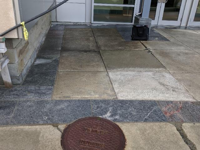 Concrete Leveling Ithaca, NY - Before Photo