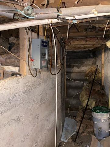 Stair way crawl space repair in Georgetown, NY