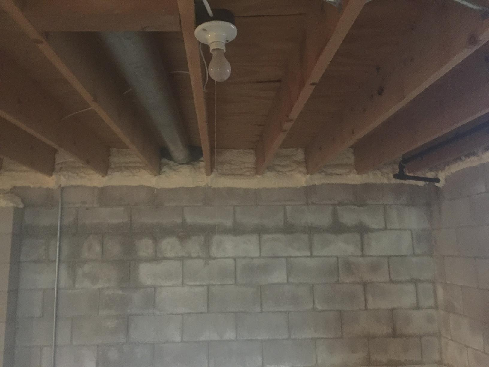 Air Sealing Basement Rim Joists in Brillion, WI - After Photo