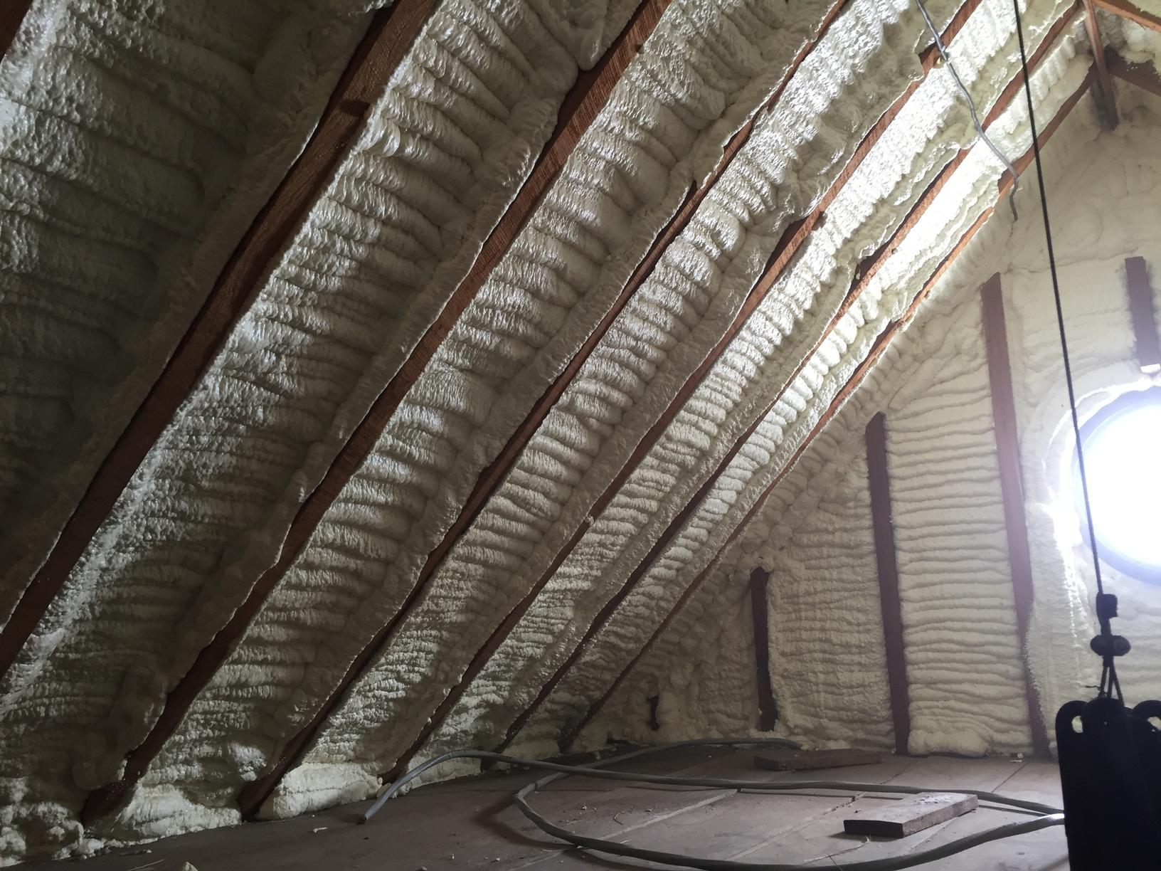 The Benefits of Spray Foam to Insulate an Attic in Maribel, WI - After Photo