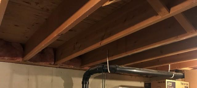Before and After Sealing Rim Joists with Spray Foam in Neenah, WI