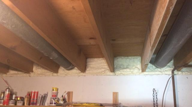 Rim Joist Insulation to Air Seal Basement in Menasha