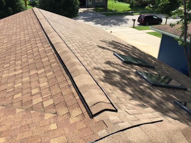 New GAF Roof Installed on a Home in Menasha, WI - After Photo