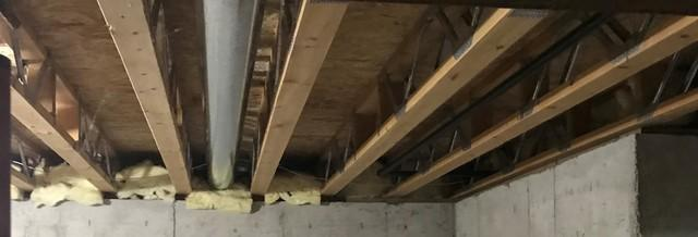 Rim Joist Insulation Improves Home Comfort and Energy Efficiency in Green Bay, WI - Before Photo