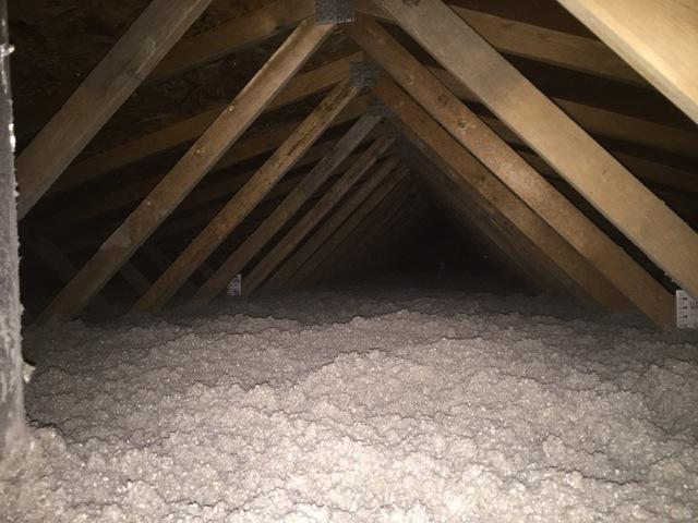 Adding Blown In Cellulose to Attic Improving Home Comfort in Freemont, WI - After Photo