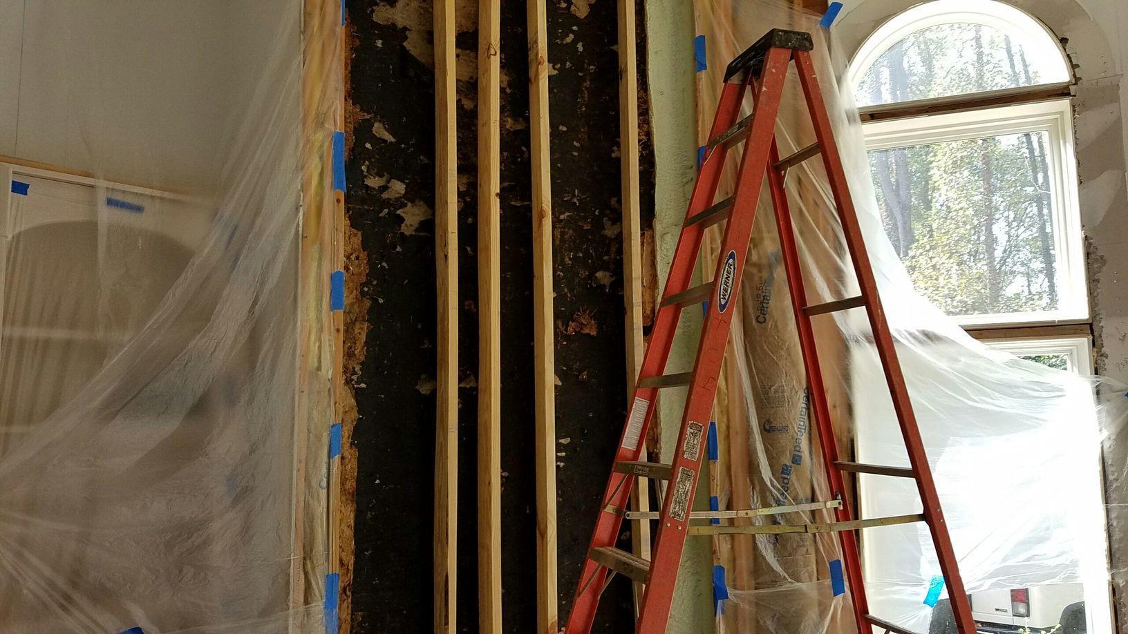 Spray foam insulation-Great Falls, VA - Before Photo