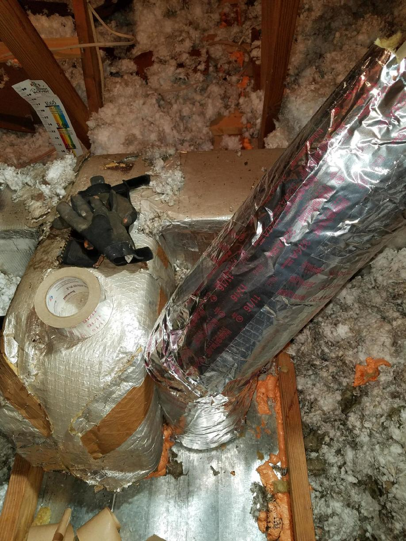 Metal chimney wrap-Centreville, VA - After Photo