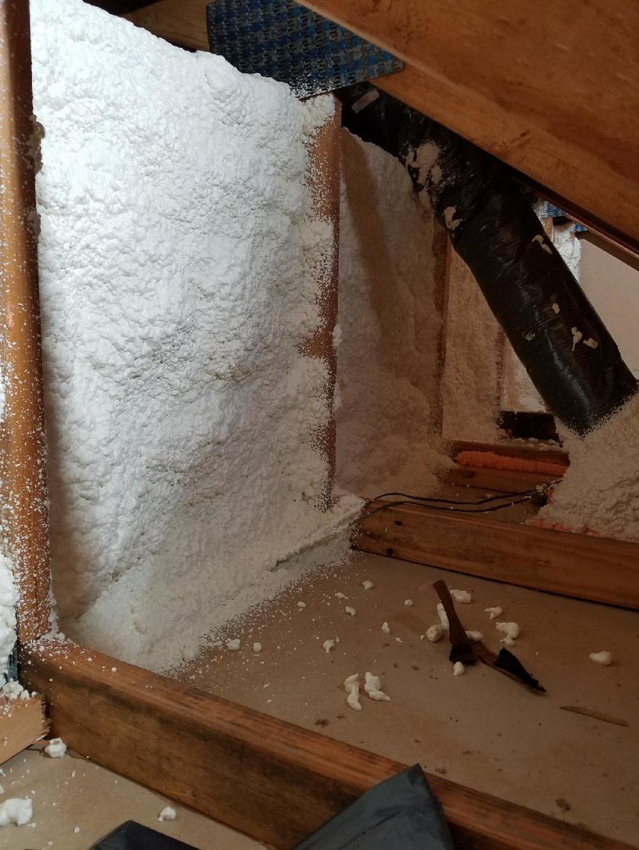 Fiberglass versus Spray Foam-Leesburg, VA - After Photo