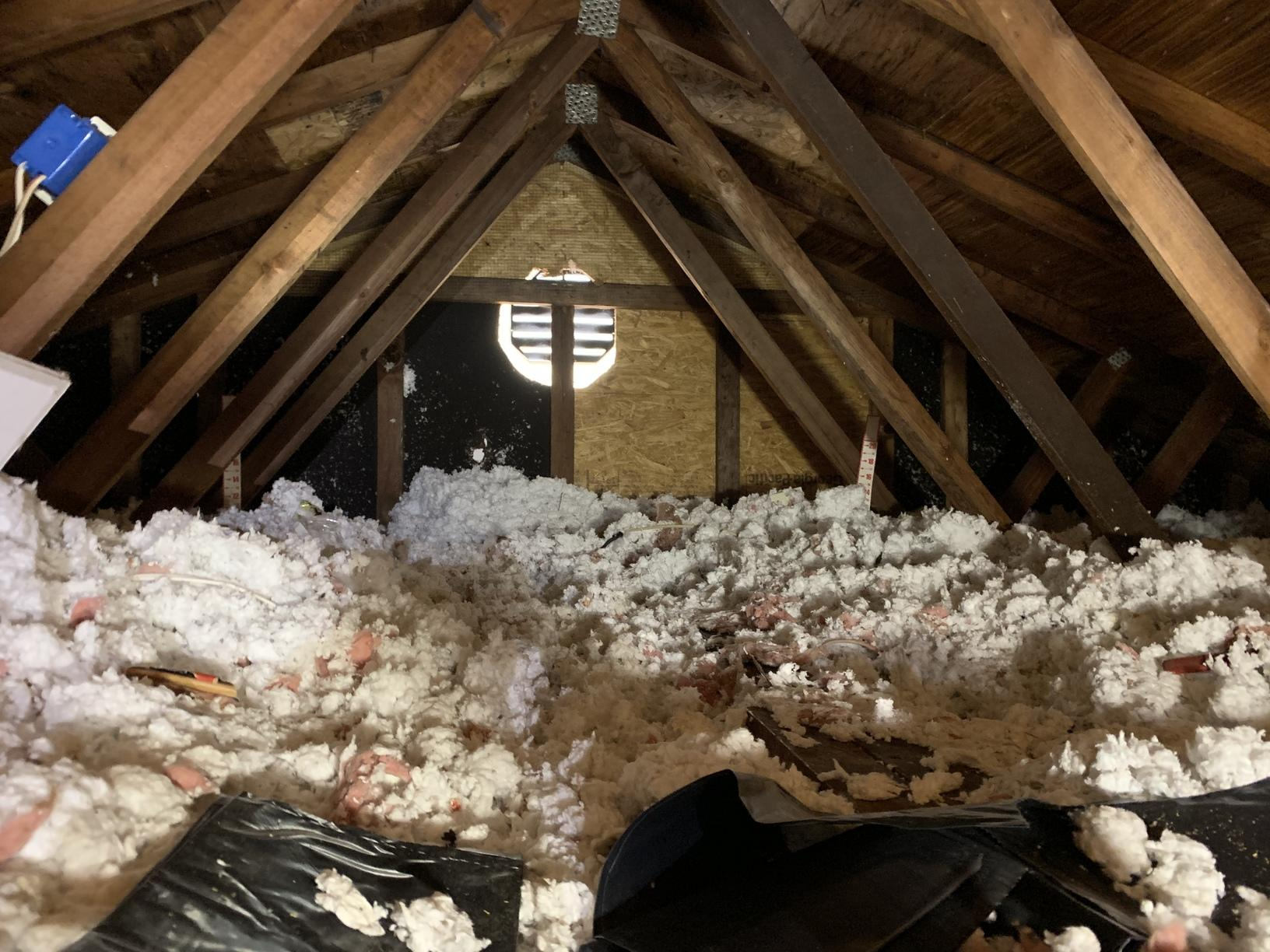 Cellulose Insulation in Brandy Station, VA - Before Photo