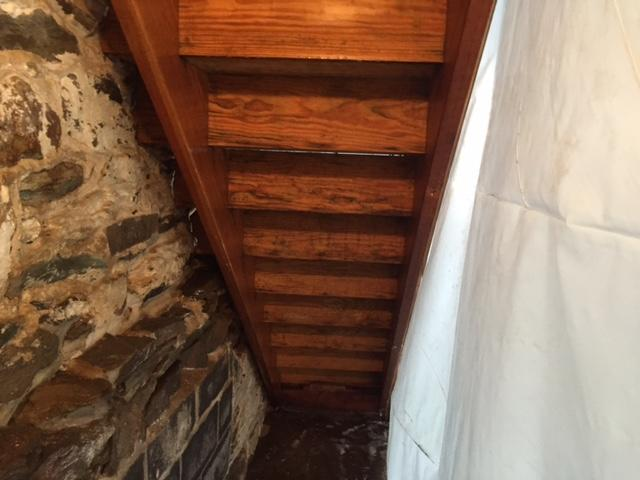 Moldy Basement Stairs - After Photo